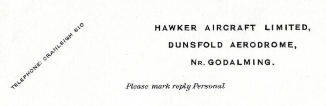 Hawker 1950-1974 - Dunsfold Airfield History Society