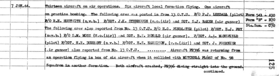 C:\Users\Frank\Pictures\z011 Dunsfold Airfield and crashes and incidents thereon\Pallinghurst House\180 Sqd. ORB 7th Jan 1944.JPG