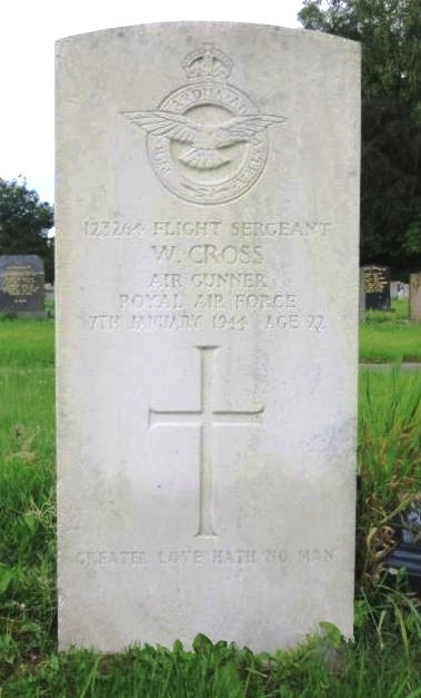 C:\Users\Frank\Pictures\z011 Dunsfold Airfield and crashes and incidents thereon\Pallinghurst House\Flt. Sgt. Air Gnr. Wm. Cross, 98 Sqdn, Died 7th Jan. 1944, aged 22. Son of Wm. and Nancy Cross, of Ribbleton..JPG