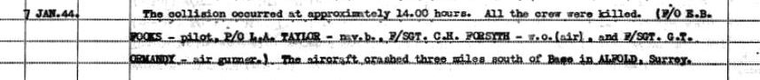 C:\Users\Frank\Pictures\z011 Dunsfold Airfield and crashes and incidents thereon\Pallinghurst House\180 Sqd. ORB 7th Jan 1944 02 - Copy.JPG