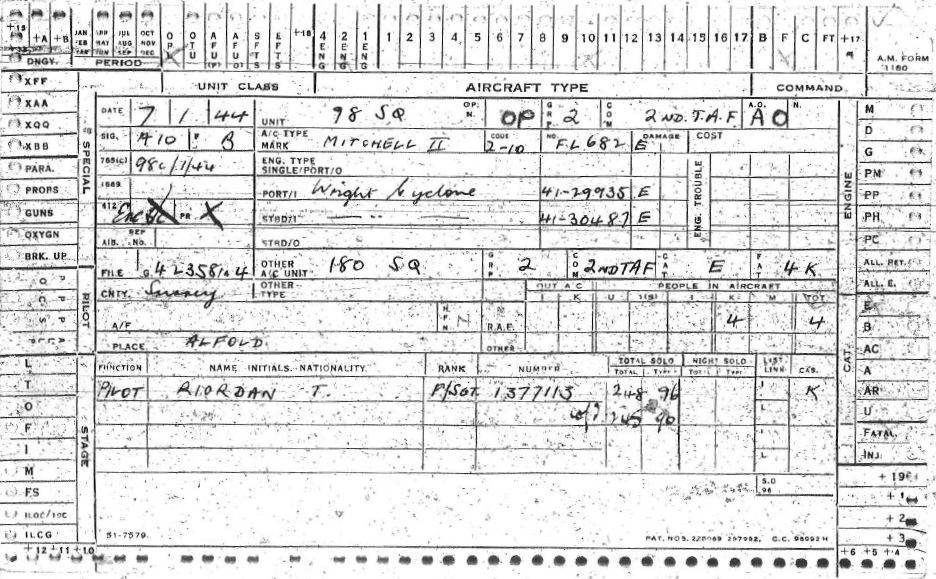 C:\Users\Frank\Pictures\z011 Dunsfold Airfield and crashes and incidents thereon\Pallinghurst House\Aircraft Accident Card FL682 Riordan of 98 Sqdn 01.JPG