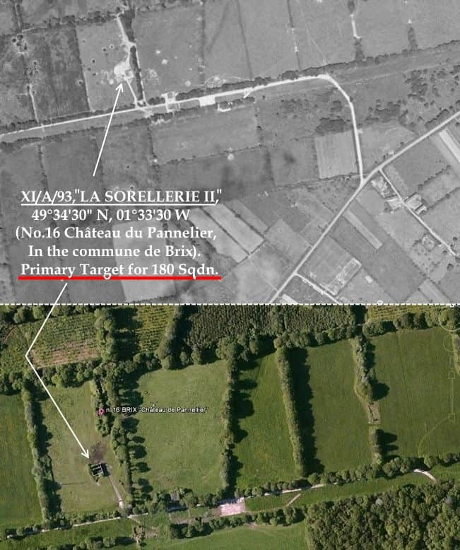 C:\Users\Frank\Pictures\z011 Dunsfold Airfield and crashes and incidents thereon\Pallinghurst House\V1 Target Photos\La Sorellerie II 11.A.93, No.16 Chateau du Pannelier, Brix. Highlight..JPG