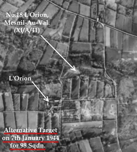 C:\Users\Frank\Pictures\z011 Dunsfold Airfield and crashes and incidents thereon\Pallinghurst House\V1 Target Photos\No.18 L'Orion, Mesnil-Au-Val. (XI.A.41) 001 - Corrected.JPG