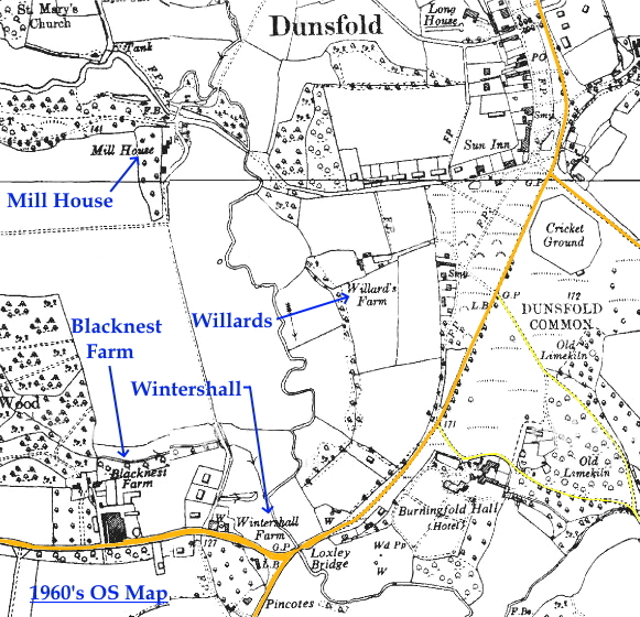 C:\Users\Frank\Pictures\z011 Dunsfold Airfield and crashes and incidents thereon\z059 Blacknest Farm 6th Oct. 44\Dunsfold Old Maps 1961 - Copy (2).JPG